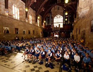Six hundred primary school students attended the Compass Program's pathway to higher education Intrroduction to Uni Day.