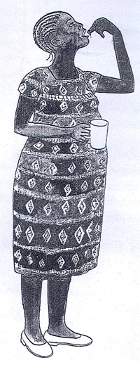 An illustration used to encourage women in Tanzania to take the medication.