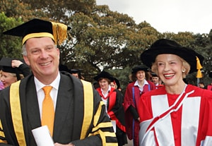 Governor-General Quentin Bryce and Vice-Chancellor Dr Michael Spence.
