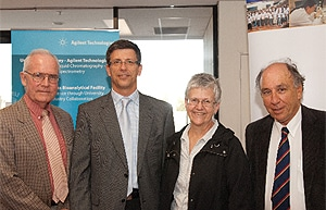 (L-R) Professor David Burke (Director of Research, Sydney Medical School), Professor Roland Stocker (Professor of Vascular Medicine), Professor Jill Trewhella (DVC Research) and Professor Jonathan Stone (Executive Director. Bosch Institute).
