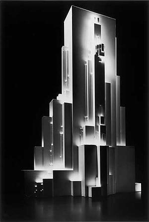 Model of Kasimir Malevic's 'Architekton Gota', 1922, made by students of Prof W Knoll, University of Stuttgart. [Image: Hans-Joachim Heyer & Boris Miklautsch, University of Stuttgart]