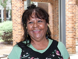 Marlene Cummins, one of the actors in the videos.