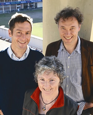 (Clockwise from top left) Dr Christopher Dey, Professor Manfred Lenzen and Dr Joy Murray have been jointly nominated for the Eureka Prize for Innovative Solutions to Climate Change.