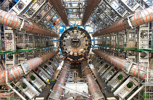 The ATLAS detector at the Large Hadron Collider.