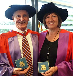 Professors Craig Mellis and Elizabeth Elliott.