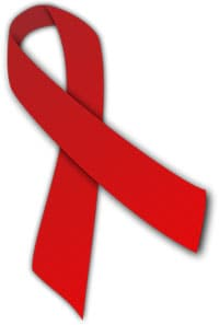 The red ribbon is a symbol for solidarity with people who are HIV-positive or living with AIDS.