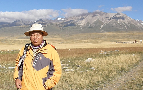 Dr Peter Jia in Xinjiang, north-west China.