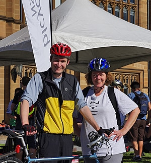 The University hosted a Ride to Work/Uni Day breakfast this morning for staff and student cyclists.