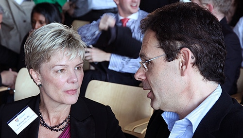 Professor Kathryn North from Sydney Medical School, and Professor Anthony Weiss from the Faculty of Science.