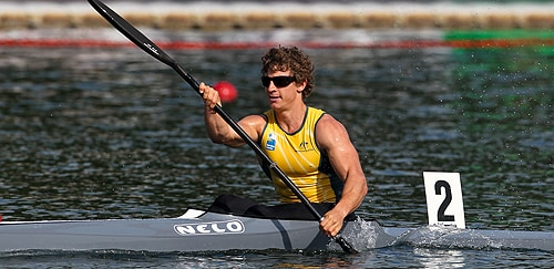 Murray Stewart, a member of the gold-winning K4 1000m team.