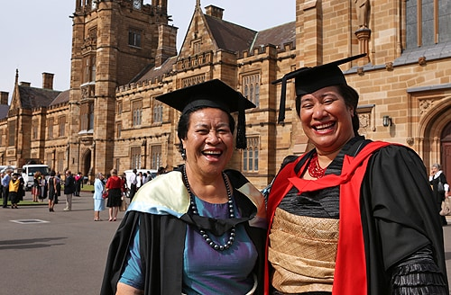 Dr Amelia Latu Afuha'amango Tu'ipulotu (right) with Sela Paasi, Chief Nurse of Tonga.