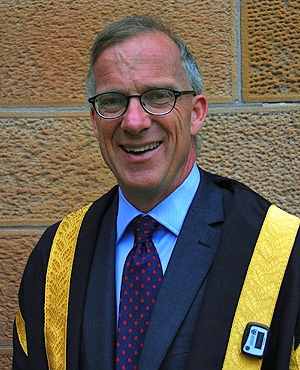 Vice-Chancellor Dr Michael Spence will be wearing a pedometer (seen in the bottom right corner) during Orientation Week.