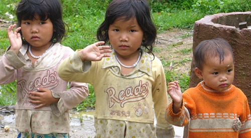 Some local children in Dien Bien Phu.