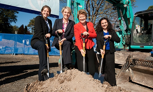 Tanya Plibersek and Jillian Skinner (second and third from left respectively) attended the ceremony.