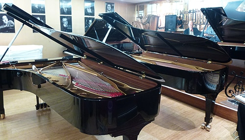 The event marks the arrival of the five new Steinway concert grand pianos from Germany.