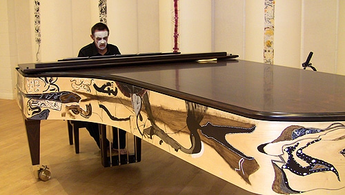 A piano specially painted with Indigenous art will be used on the day.