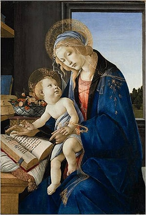 Detail of Sandro Botticelli 'Madonna of the Book' (1483) Museo Poldi Pezzoli, Milan.