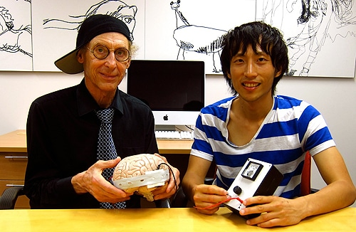 (L-R) Professor Allan Snyder and Richard Chi found brain stimulation helped people solve a puzzle.