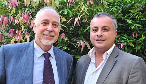 (L-R) Dr Alex Blaszczynski and Dr Fadi Anjoul from the Gambling Treatment Clinic.