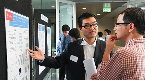 The annual Research Conversazione event gives engineering students the chance to show their work to industry representatives.