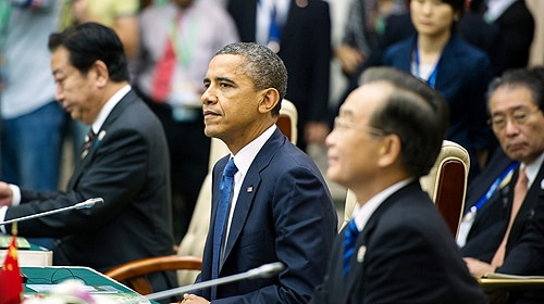 US President Barack Obama participates in the East Asia Summit Plenary Session in Phnom Penh, Cambodia. [Image: US State Department]
