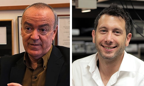 "(L-R) Professor Simon Chapman and Dr Michael Biercuk have been named in the 100 most influential people in Sydney in 2012. Dr Biercuk told the Sydney Magazine: ""Teaching the students is just as rewarding as getting a scientific result""."