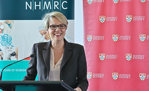 Federal Minister for Health, Tanya Plibersek announced the latest NHMRC grants at the University of Sydney today.