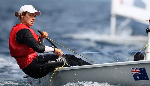 Krystal Weir, one of two University of Sydney Olympians in the sailing team.