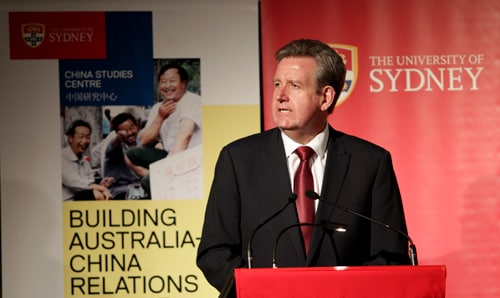 In his address, NSW Premier Barry O'Farrell said the state was well-placed to build on its strong trade and investment partnership with China.