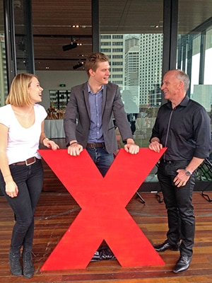 The University of Sydney was an integral part of TEDxYouth@Sydney, with students appearing in the speaker line-up, giving musical and artistic performances, and working behind the scenes. Vice-Chancellor Dr Michael Spence pictured with student Victoria Baldwin and graduate Chad O'Neill.