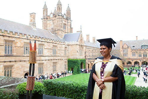 Marion Scrymgour is the fourth Aboriginal and Torres Strait Islander person to be awarded an honorary doctorate by the University of Sydney in the past five years and is the first Aboriginal and Torres Strait Islander recipient of such an honour from the Faculty of Health Sciences.