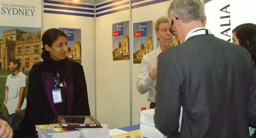 University of Sydney alumna Raja Alsaffar attending the 2013 International Exhibition and Conference on Higher Education in Riyadh, Saudi Arabia