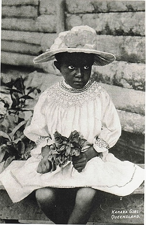 Kanaka Girl, Queensland, courtesy of the Macleay Museum Historic Photo Archive.