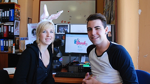 O-Week 2013 directors Kristy Samal and Robby Magyar want to take new students 'down the rabbit hole' into campus life.