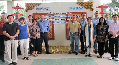 Urban researchers and practitioners from the Asia Pacific's leading research institutes and universities, and UNESCAP and UN-Habitat. Urbanisation comes with consequences including winners and losers, says Dr Paul Jones (third left).