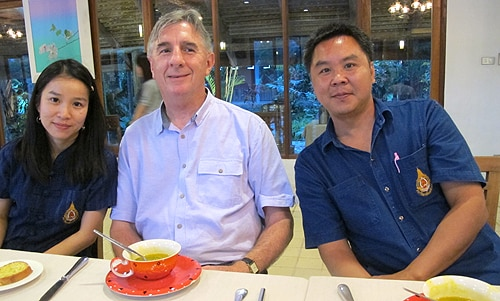 Dr Paul Jones (centre) with urban environmental academics from Mae Fah Luang University, Chang Rai.
