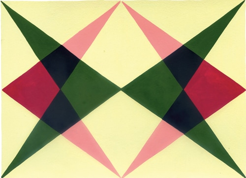 Elizabeth Pulie, 'Geometric Collection' (detail), 2000, gouache on card.