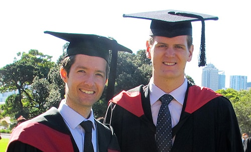(L-R) John van Rooyen and Alexander Hanbury-Brown, two of our latest engineering graduates.