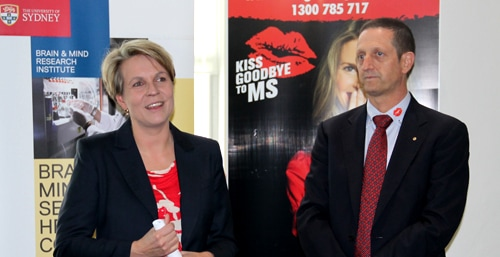 Minister for Health and Ageing Tanya Plibersek and Professor Ian Hickie.