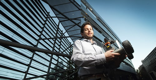 Dr Fabio Ramos is helping to produce a new breed of intelligent robots (Photo: Ted Sealey)