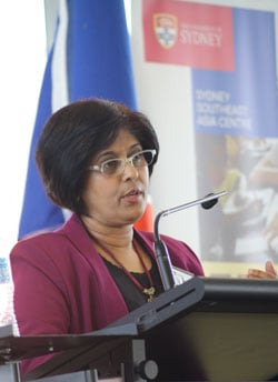 Helen Nesadurai addresses the ASEAN forum