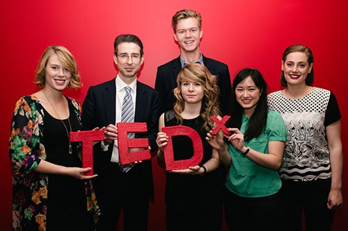 Professor Tyrone Carlin, Pro-Vice-Chancellor (Educational Operations) with the TEDxYouth@Sydney team.