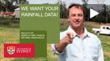 We want your rainfall data