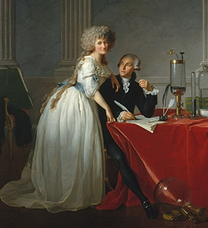 Antoine-Laurent Lavoisier (1743–1794) and His Wife (Marie-Anne-Pierrette Paulze, 1758–1836)