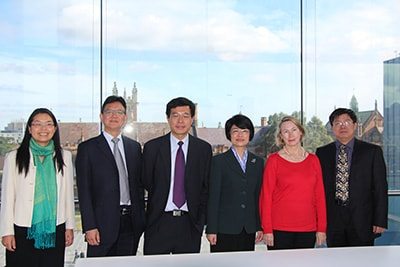 The delegation from SUIBE with Professors Vivienne Bath and Bing Ling