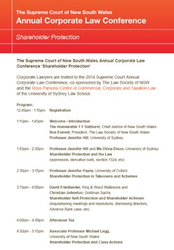 The Supreme Court of New South Wales Annual Conference
