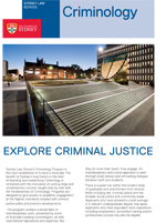 Download the Sydney Criminology Brochure