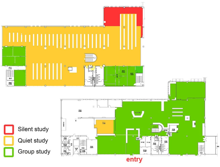 Health Sciences Library Library map