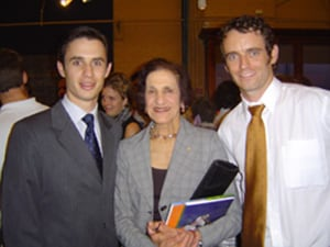 Ben Robinson and Simon Quilty with Her Excellency Professor  Marie Bashir, AC, Governor of NSW