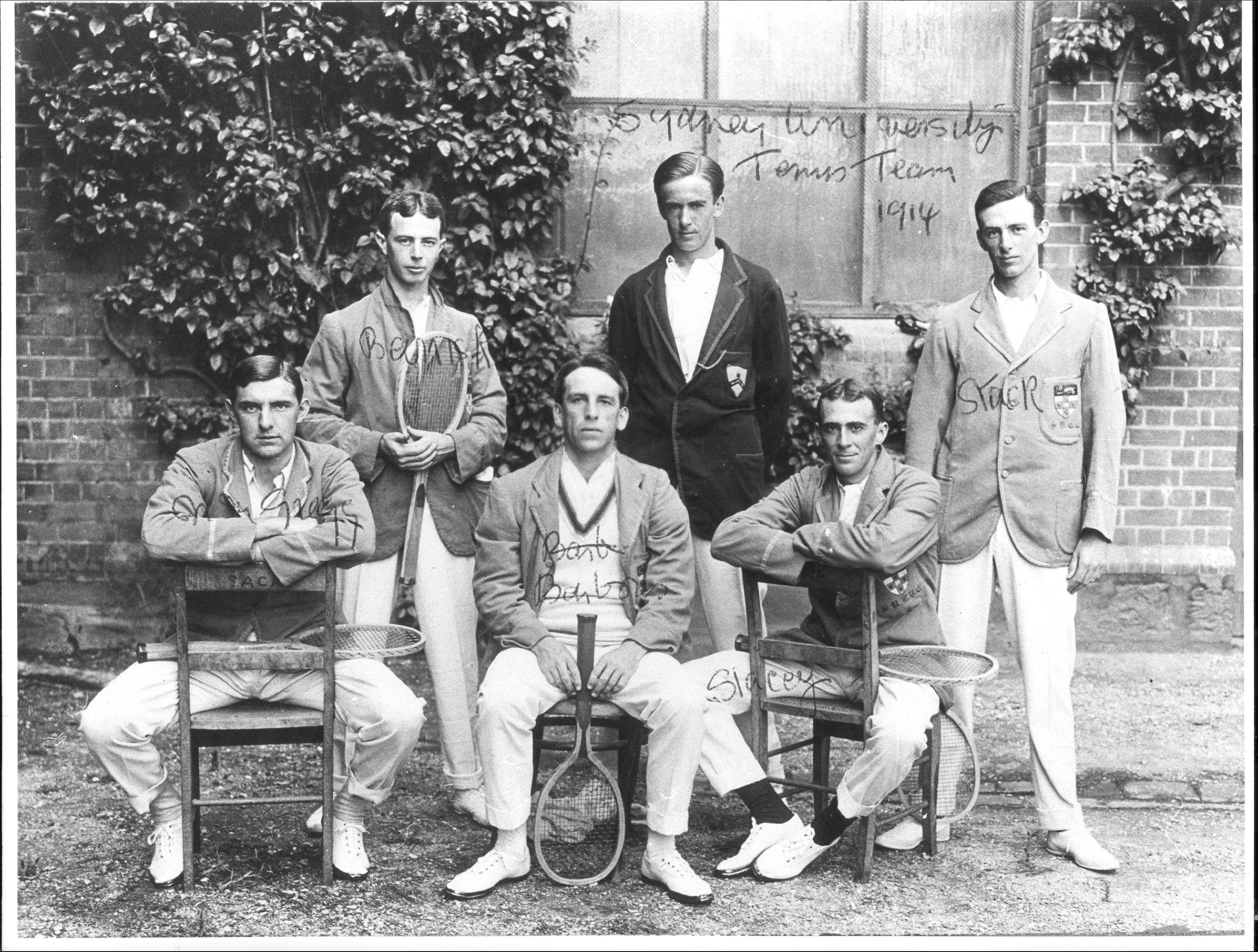 Norman Gregg in the University of SydneyTennis Team 1914.jpg, Copyright University of Sydney